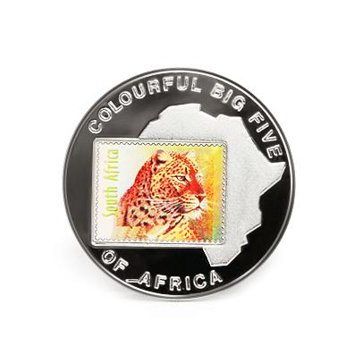 Коллекционная монета «Африка: марка с леопардом»