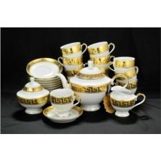 Фарфоровый чайный сервиз на 12 персон Greca Oro