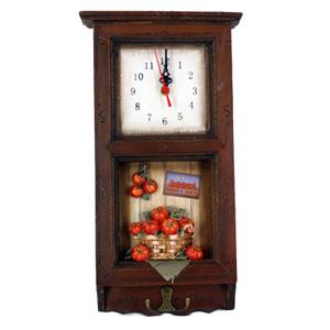 Коллаж-часы «Томаты» (1 крючок) 18*33*5 см