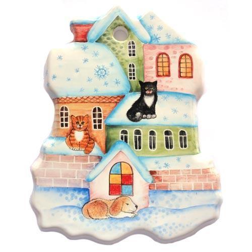 Сырная доска Зимний город