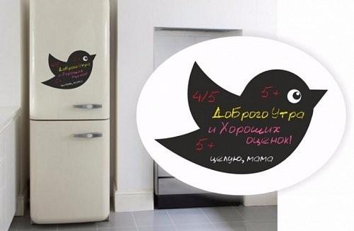 Магнитная доска на холодильник Твиттер