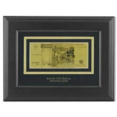Картина с банкнотой 5000 руб с сусальным золотом