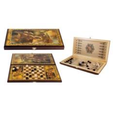 Настольная игра Баталия: нарды, шашки, размер 40х20 см