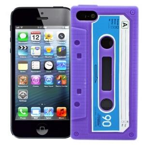 Чехол для iPhone 5 Кассета (фиолетовая)