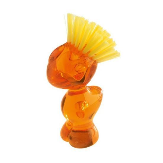 Щетка для чистки овощей, оранжевый, прозрачный, Koziol