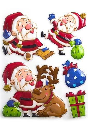Набор аппликаций Дед Мороз с подарками