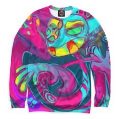 Цветной свитшот Психоделика