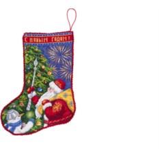 Набор для вышивания Новогодний сапожок