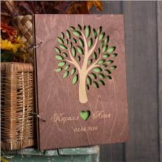 Книга пожеланий Осень из дерева