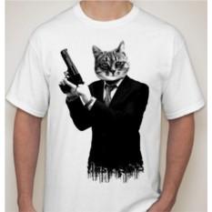 Футболка Кот с пистолетом