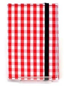 Обложка для паспорта Bookcare В красную клеточку