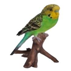 Навесная декоративная садовая фигурка Зеленый попугай