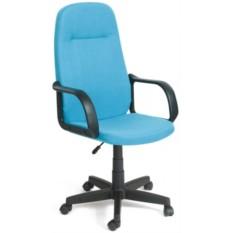 Кресло руководителя LEADER Лидер ткань голубая