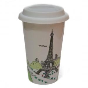 Термо-стакан с крышкой Эйфелева Башня