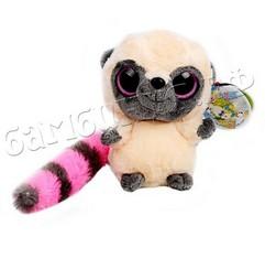 Мягкая игрушка Лемур с розовым хвостом