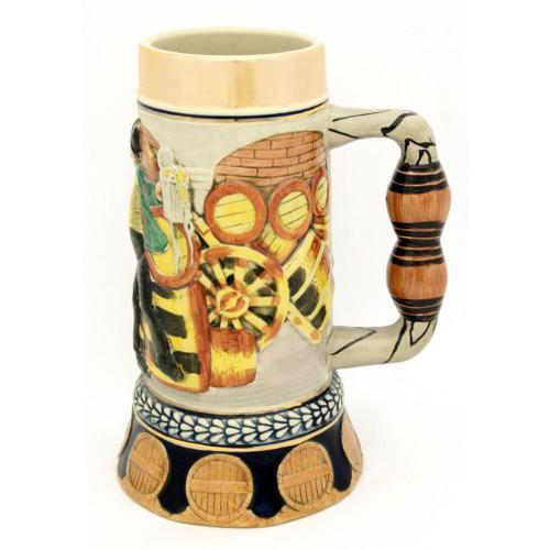 Кружка керамическая пивная «Бюргер навеселе»