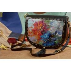 Женская сумка-седло с принтом Elole Design Весенний взрыв