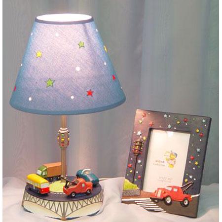 Лампа и фоторамка «Автомобили»