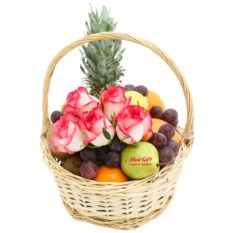 Фруктовая корзина с цветами Frutti