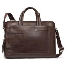 Коричневая кожаная мужская сумка Piquadro Vibe