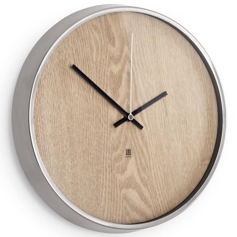 Настенные часы Madera светлое дерево