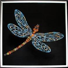 Картина с кристаллами Swarovski Стрекоза