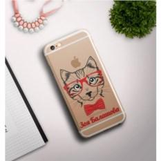 Именной чехол для iPhone Кошка