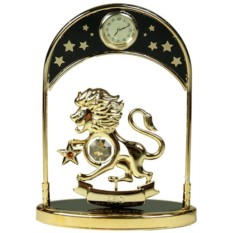 Фигурка Swarovski с часами Знак зодиака Лев