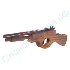 Деревянное ружье, стреляющее резинками