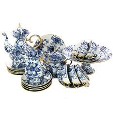Сервиз фарфоровый чайный, рисунок Поющий сад