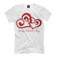 Мужская футболка Сердечка для влюбленных