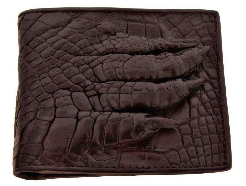 12d3b17abbd1 Мужской коричневый кошелек из крокодила с лапой | купить в Подарки.ру