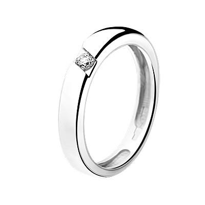 Обручальное кольцо из белого золота Mercy
