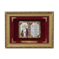 Православное панно в багете Серафим Саровский