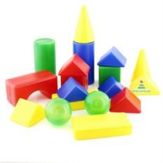 Детский конструктор из пластмассы «Теремок», 18 деталей