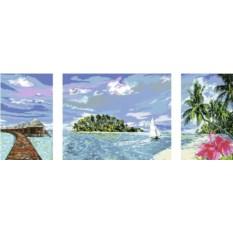 Триптих по номерам Ravensburger Тропический остров