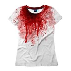 Женская футболка 3D Кровь