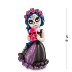 Статуэтка в стиле фэнтези Девочка с черепом