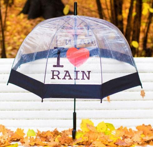Зонт «I love rain» (черный)