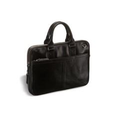 Деловая кожаная сумка Brialdi Caorle (цвет — черный)
