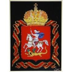 Хрустальная картина Герб Московской области 40х50