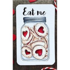 Мини открытка-бирка Eat me