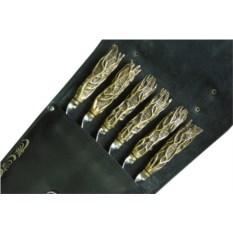 Набор с шампурами с рукоятью из бронзы Корни престиж