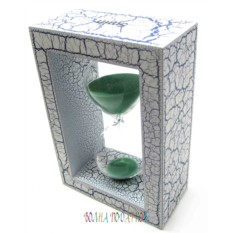 Оригинальные песочные часы 5 минут, зеленый песок