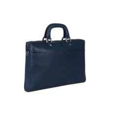 Синяя мужская сумка Leo Ventoni из натуральной кожи