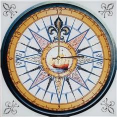 Часы с кристаллами Swarovski Морской компас