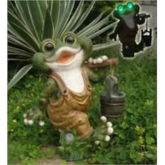 Ландшафтная фигурка и лампа на солнечной батарее Лягушка