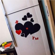 Магнитная доска на холодильник Я + ты