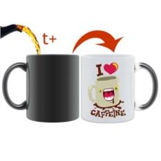 Кружка хамелеон I Love Caffeine