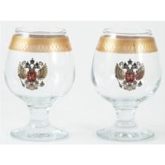 Подарочный набор из 2 бокалов для бренди Герб